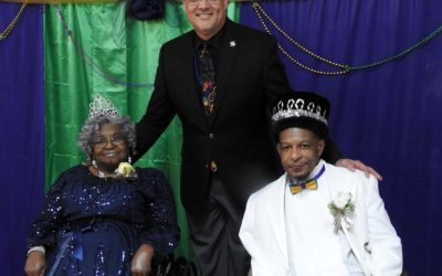 SJSO Joins Residents of Twin Oaks for Mardi Gras Ball