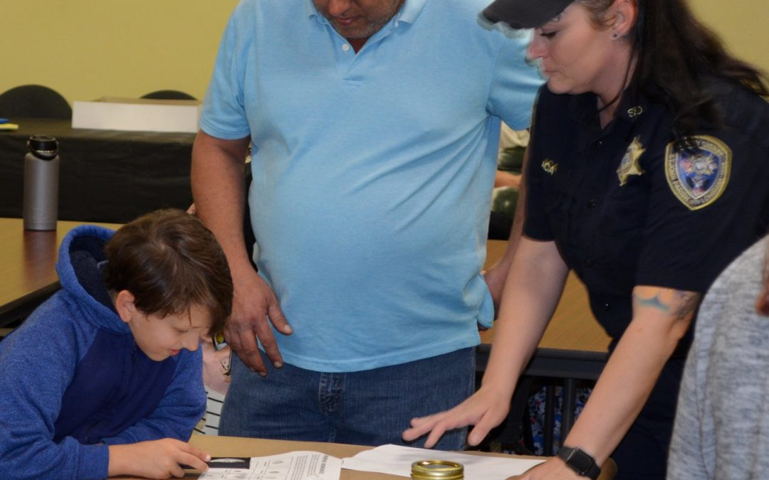 Crime Scene Officers Present Lesson for Cub Scouts